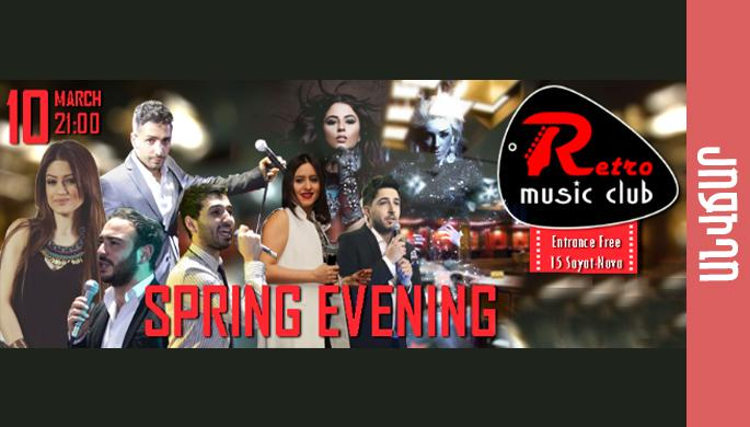 Spring evening at Retro Music Club