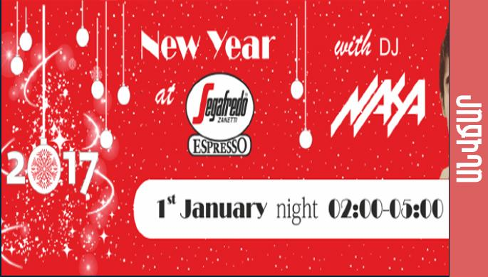 New Year Celebration in Segafredo