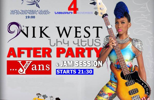 Nik West - after party and jam session at Yans Music Hall