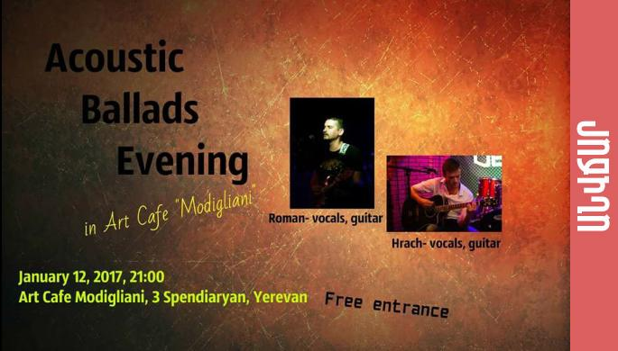 Acoustic Ballads Evening