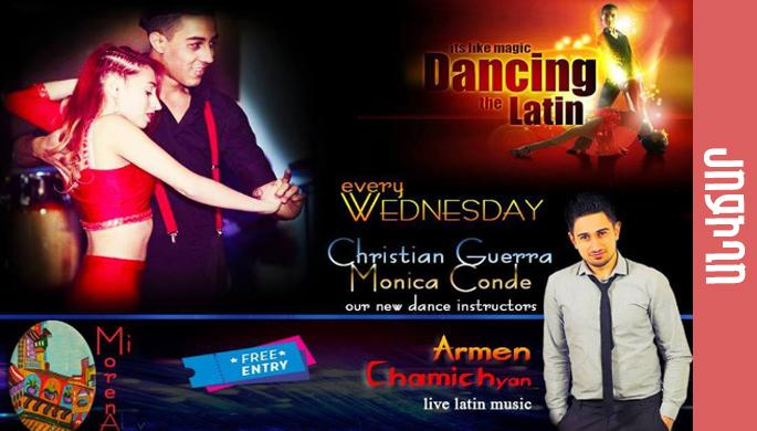 Los latinos Monica y Christian, live music Armen Chamichyan