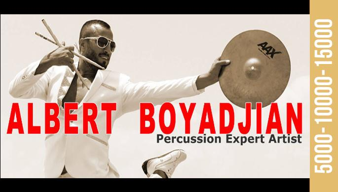 Albert Boyadjian - Percussion Expert Artist at Yans Club