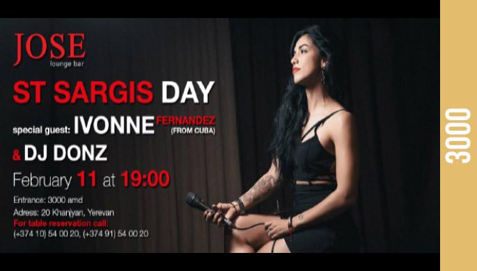 St Sargis Day at Jose Lounge Bar