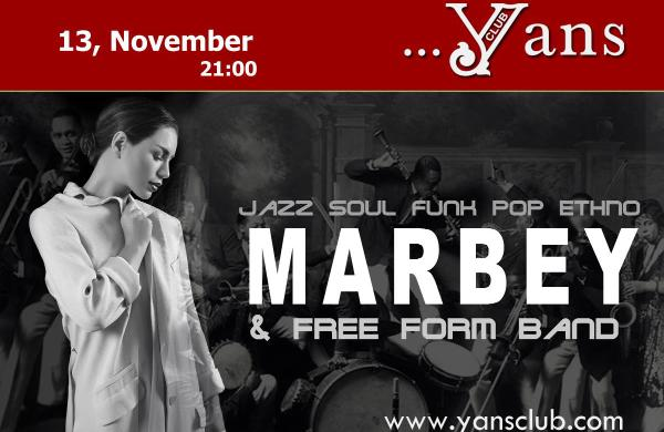 Marbey & Free Form band at Yans