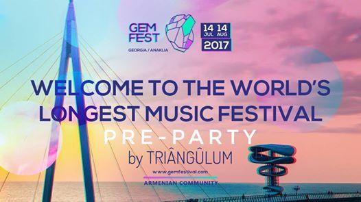 GEM FEST pre-party by Triângûlum