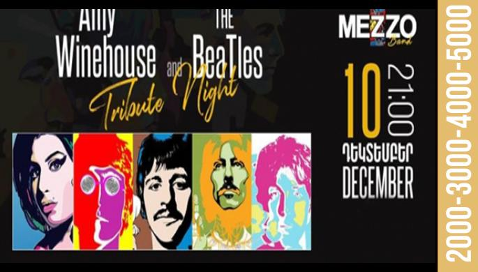 Amy Winehouse and The Beatles Tribute Night at Mezzo!